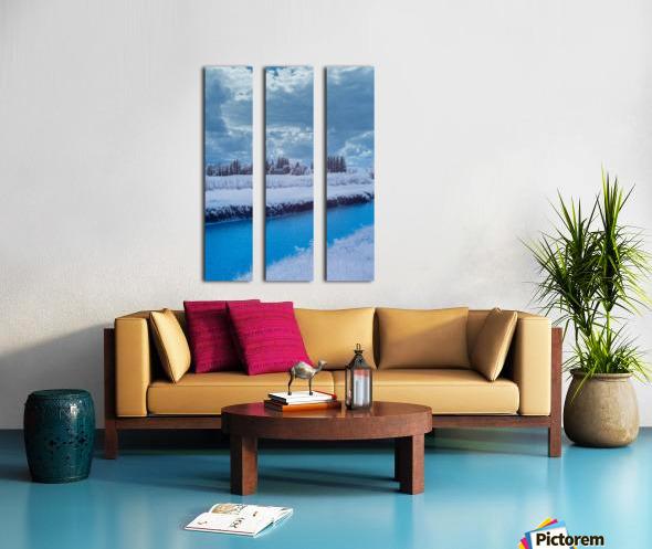 Infrared River Split Canvas print