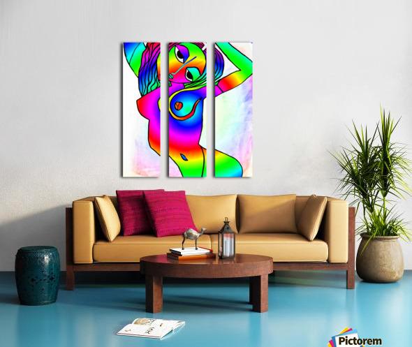el camino rainbow Split Canvas print