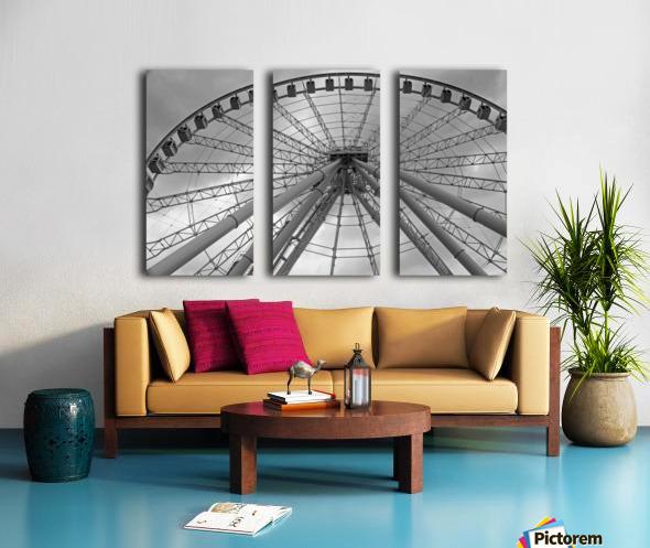 Height B&W Split Canvas print