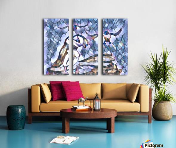 Le macareux  Split Canvas print