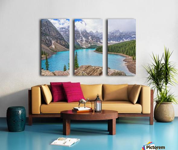 Moraine Lake in Banff National Park BC Split Canvas print