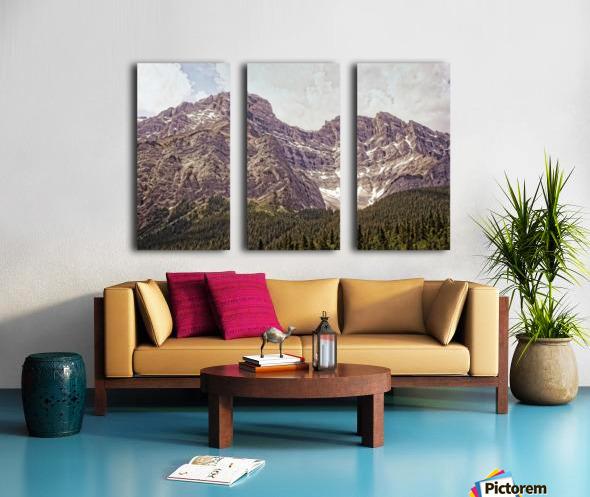Cascade Mountain in Banff National Park BC Split Canvas print