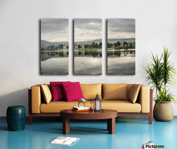 Autumn Lake Reflections Split Canvas print
