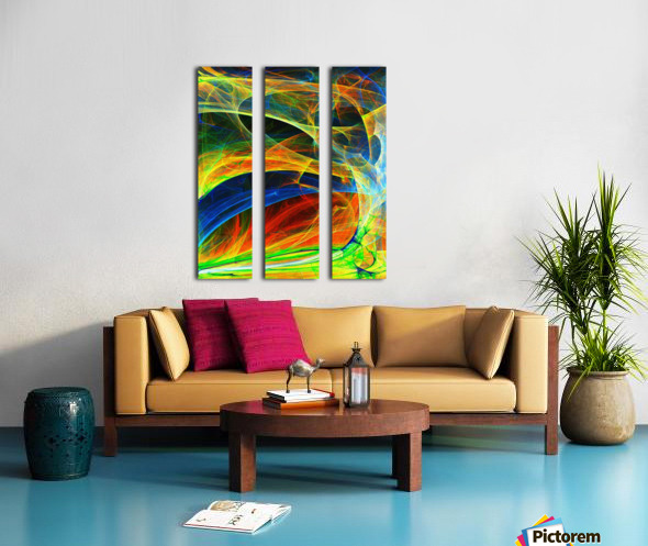 Abstract Composition 395 Split Canvas print