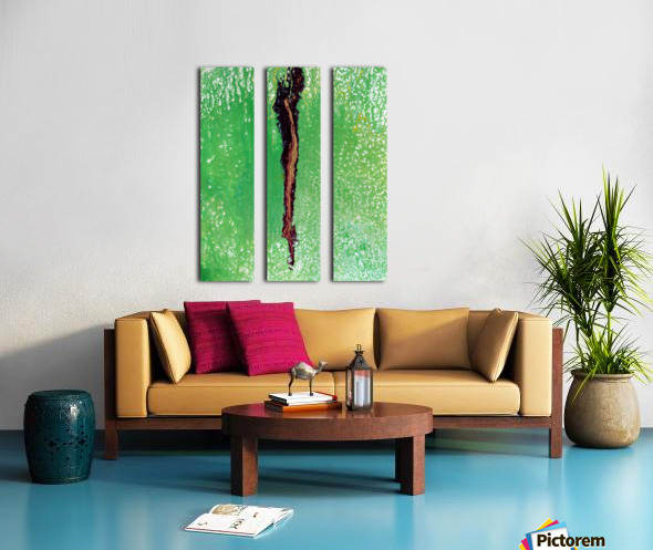 Garden Rift Split Canvas print