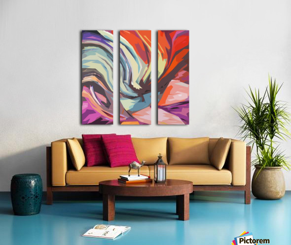 Abstract Composition 744 Split Canvas print