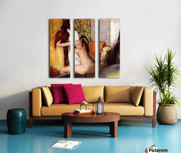 After bathing 2 by Degas Split Canvas print