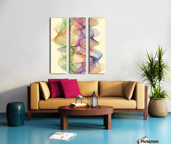 Abstract Composition 717 Split Canvas print