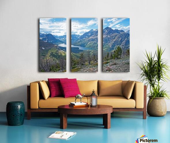 Two Medicine at Glacier National Park Split Canvas print