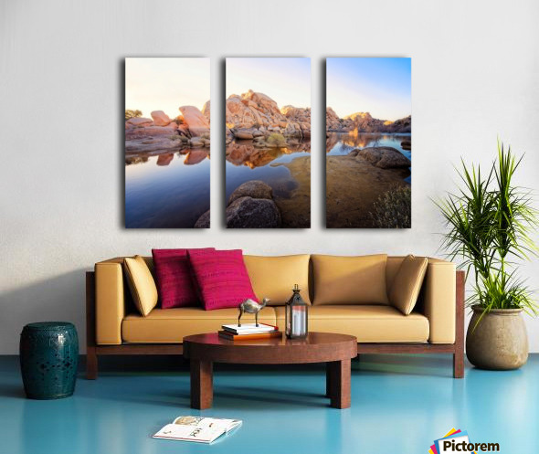 Barker Dam at Sunset Split Canvas print