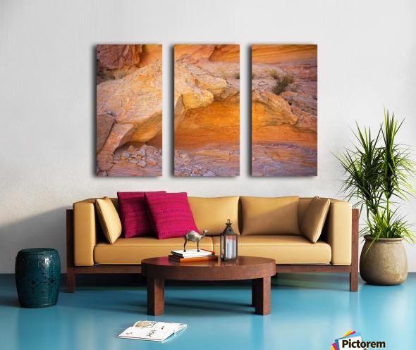 Rock Overhang in Valley of Fire Split Canvas print