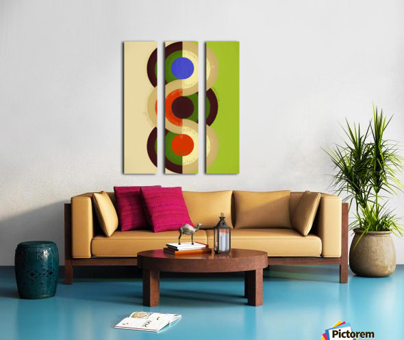 Abstract Composition 626 Split Canvas print