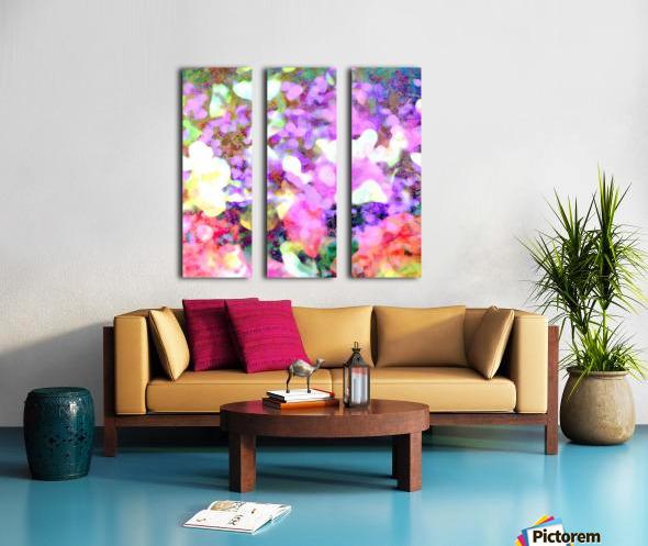 Petals on the Breeze Split Canvas print