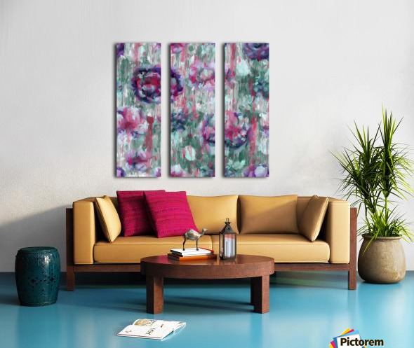 Multicolor Abstract Floral  Split Canvas print