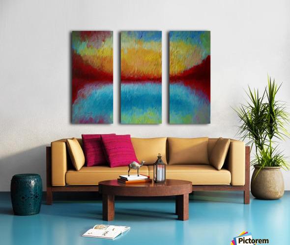 Red Mountains Split Canvas print
