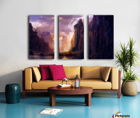 Rock Walls Split Canvas print