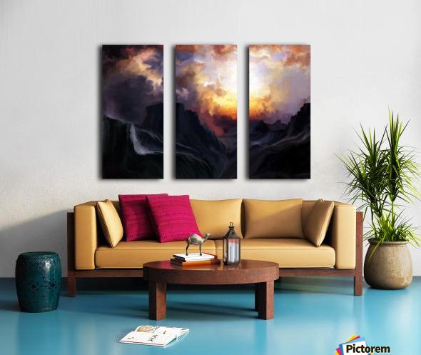 Dark Mountains Split Canvas print