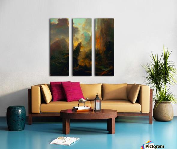 Fierce Landscape Split Canvas print