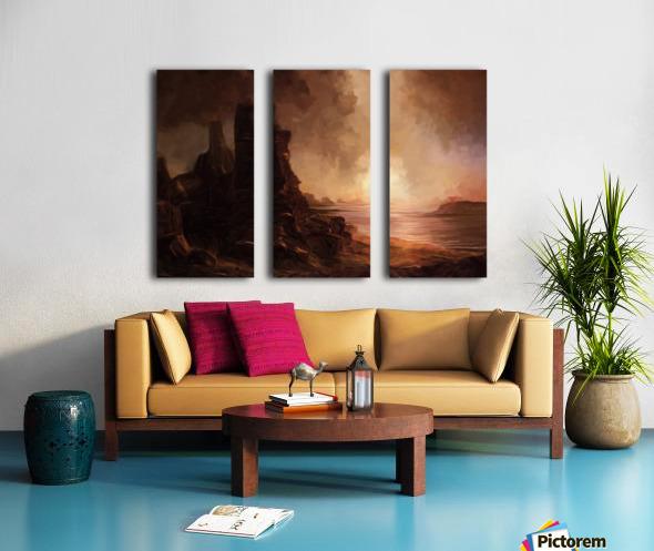 Lonesome Plains Split Canvas print