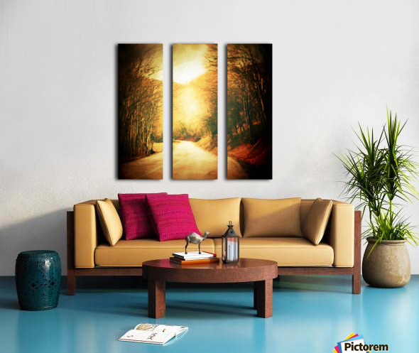 Autumnal Landscape 2 Split Canvas print