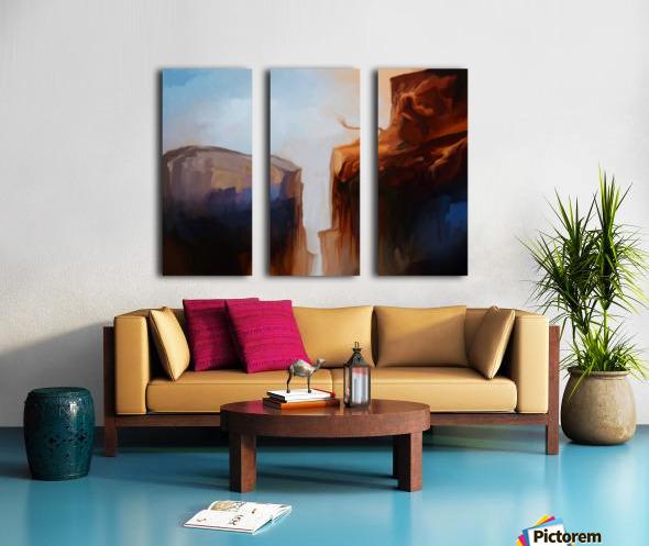 Sharp Cliffs Split Canvas print