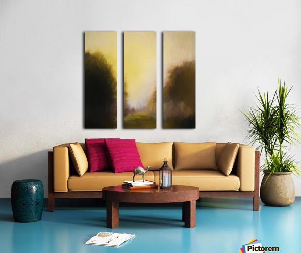 Impressionist landscape Split Canvas print