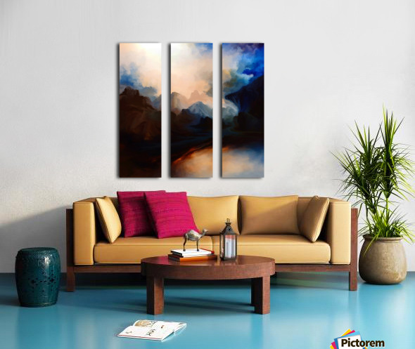 Sunset in the Mountains 25 Split Canvas print