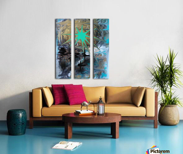 galactic fullmoon Split Canvas print