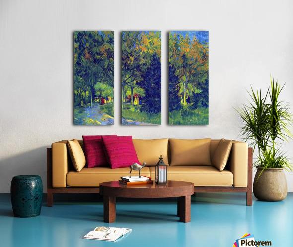 Allee in the Park by Van Gogh Split Canvas print