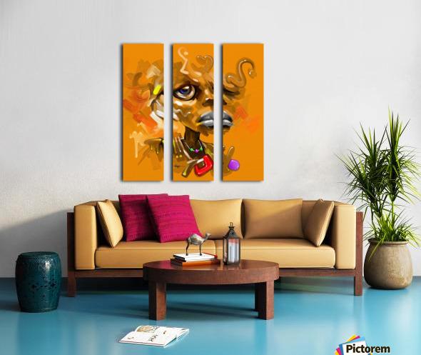 POLE Split Canvas print