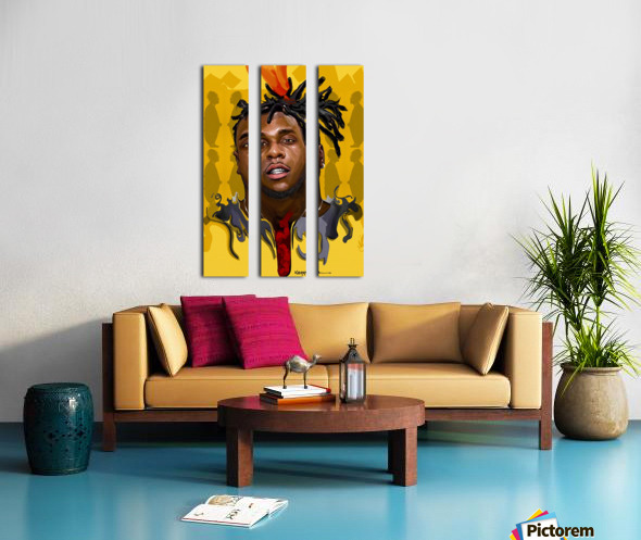 BURNA BOY Split Canvas print