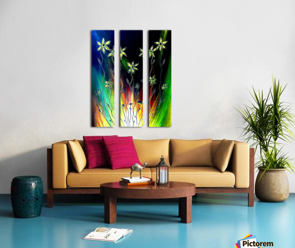 Flower Burst Split Canvas print