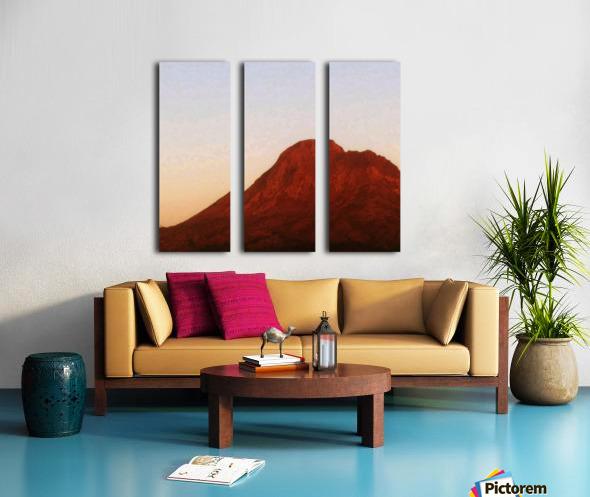 Red mountain side Split Canvas print