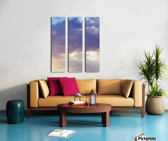 Beautiful cumullus Split Canvas print