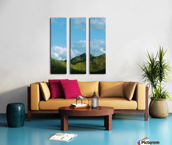 Rolling hills Split Canvas print