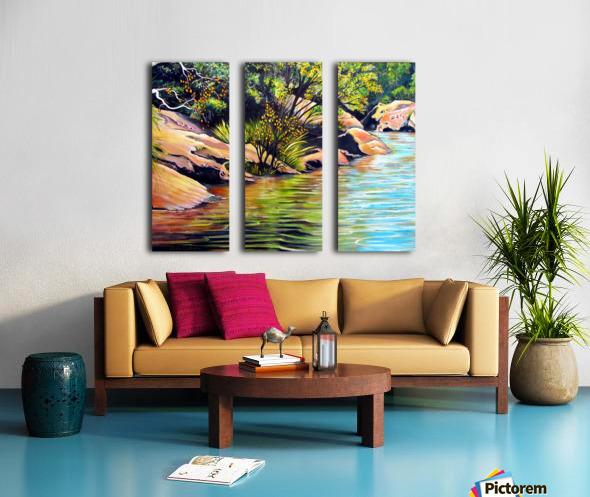Jellybean Pool Australia Split Canvas print