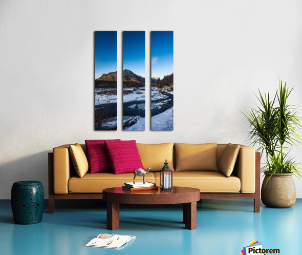 Blue freeze Split Canvas print