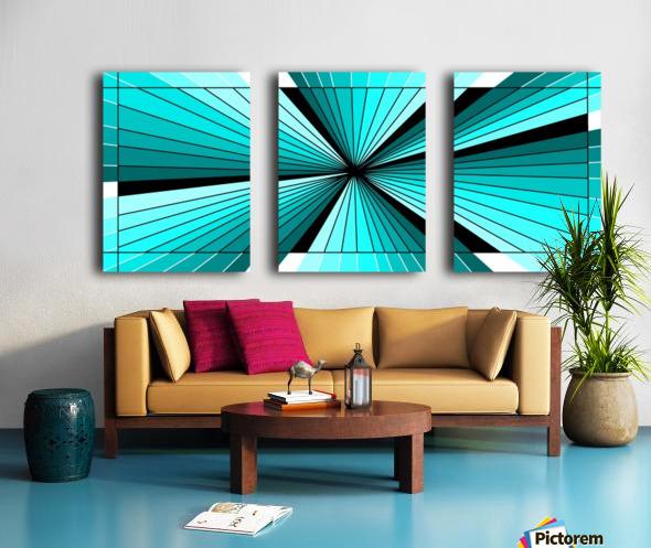 Deep light Split Canvas print