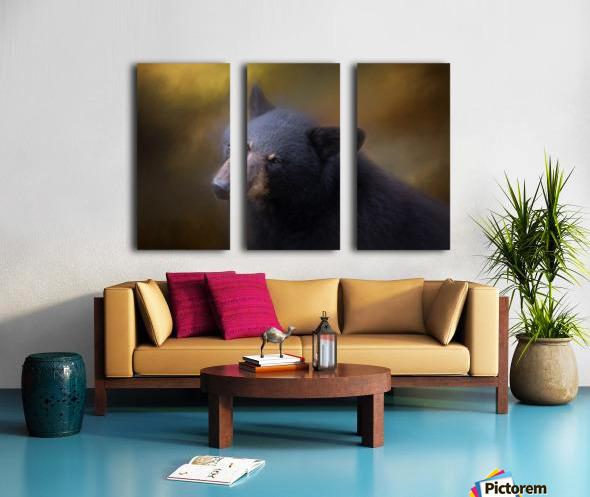 Black Bear Portrait Split Canvas print