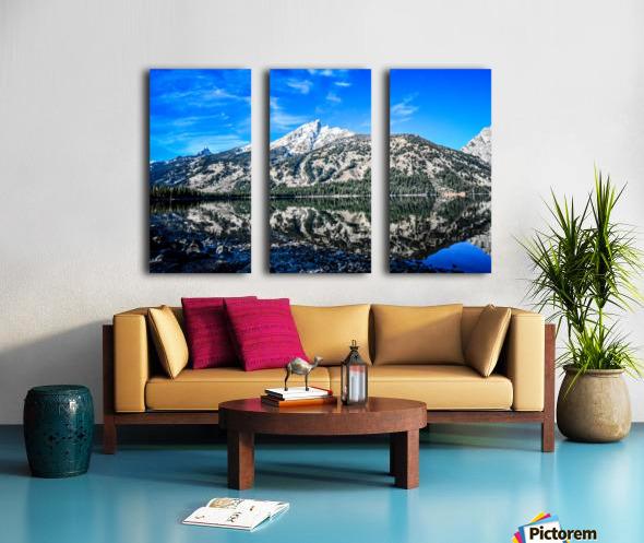 Teton reflection in Jenny lake Split Canvas print