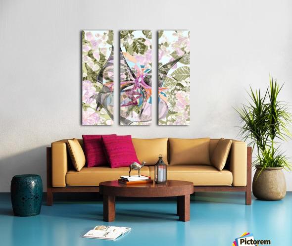 Papillon Split Canvas print