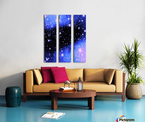 The Blue Realm Split Canvas print