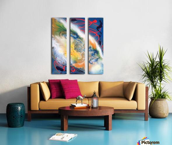 ALPHA Split Canvas print