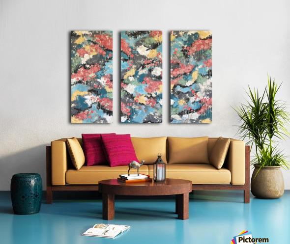 Meandering Home Split Canvas print