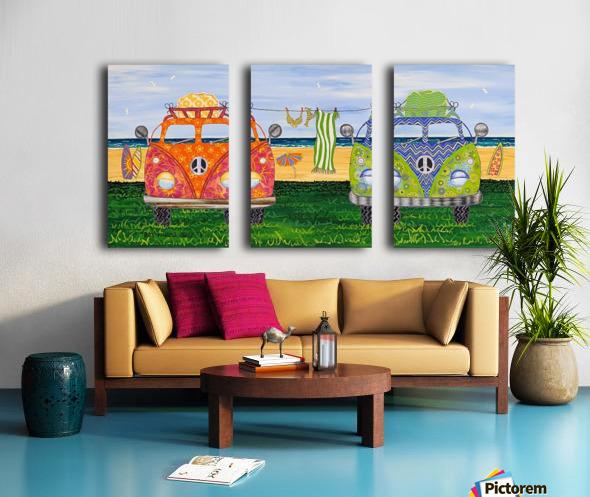 Hippy Van Holiday no.1 Split Canvas print