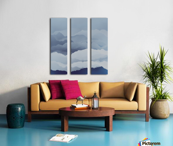 Beautiful Mountains Split Canvas print