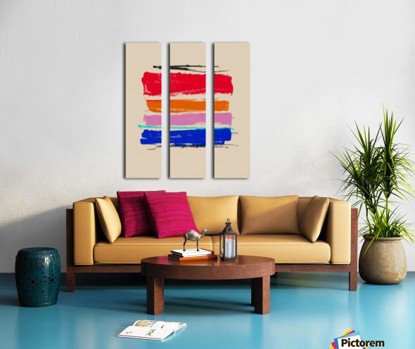 Abstract Composition 782 Split Canvas print
