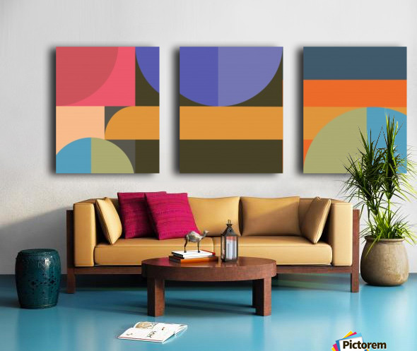 Abstract Composition 783 Split Canvas print