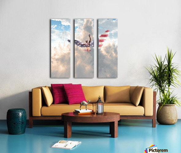 Savior Split Canvas print
