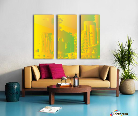 Abstract Building Minneapolis Skyline Split Canvas print